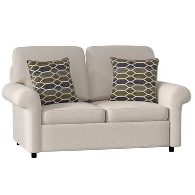 Bulfinch Loveseat Body Fabric: Grande Linen, Pillow Fabric: Kingdom Navy