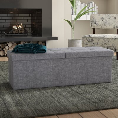 Earl Storage Ottoman Upholstery: Light Gray