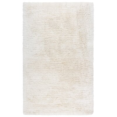 Mathena Shag Hand-Woven Ivory Area Rug Rug Size: Runner 5 x 8