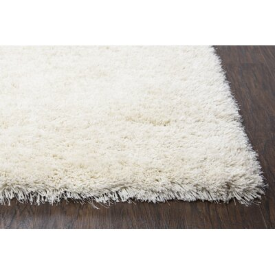 Mathena Shag Hand-Woven Ivory Area Rug Rug Size: Rectangle 36 x 56