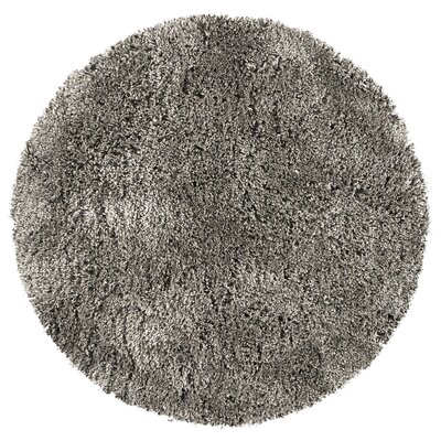 Mathena Shag Hand-Woven Oatmeal Area Rug Rug Size: Round 3