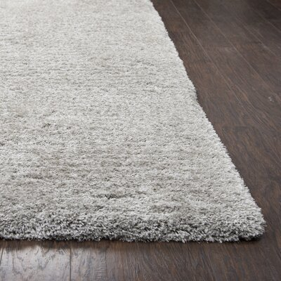 Mathena Shag Hand-Woven Silver Area Rug Rug Size: Rectangle 3 6 x 5 6