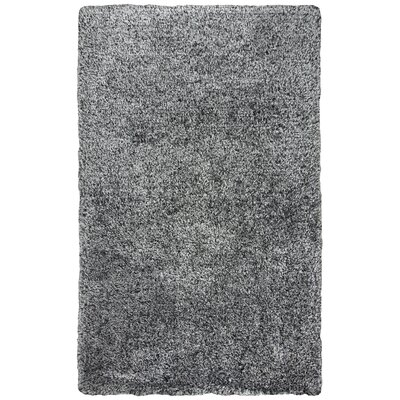 Mathena Shag Hand-Woven Black Area Rug Rug Size: Runner 5 x 8