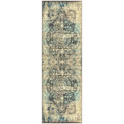 Peters Black/Beige Area Rug Rug Size: Runner 26 x 8