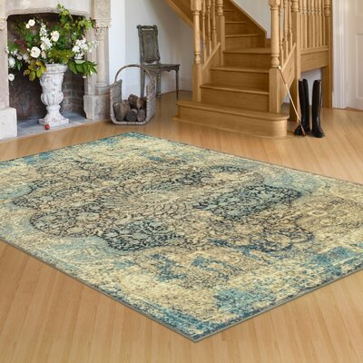 Peters Black/Beige Area Rug Rug Size: Rectangle 8 x 10