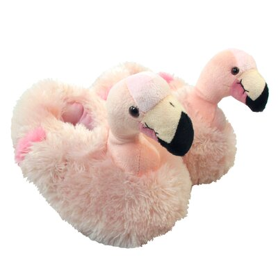 2 Piece Flamingo Furry Slipper Set