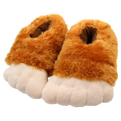 2 Piece Big Feet Slipper Set Size: Large