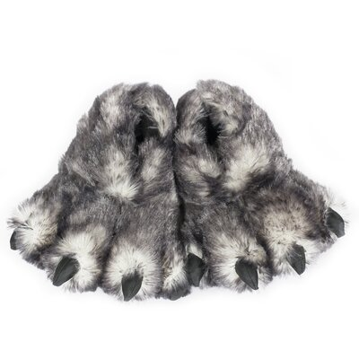 2 Piece Tip Wolf Claw Slipper Set Size: Small