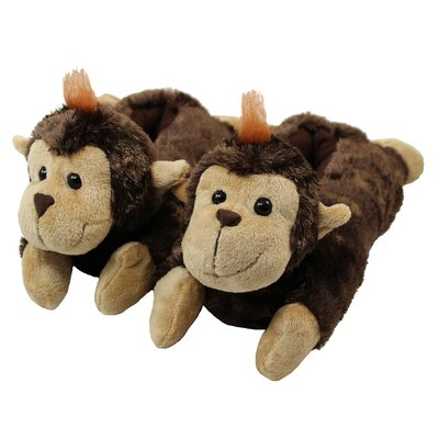 2 Piece Monkey Slipper Set