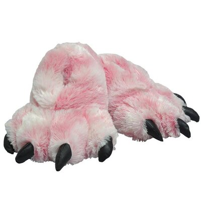 2 Piece Furry Tiger Slipper Set Size: Large