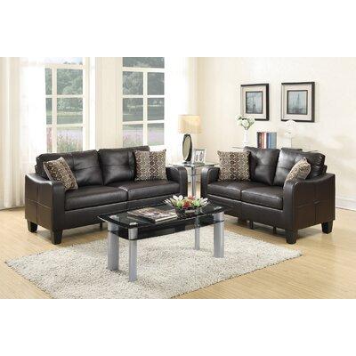 Dreer 2 Piece Living Room Set Upholstery: Espresso
