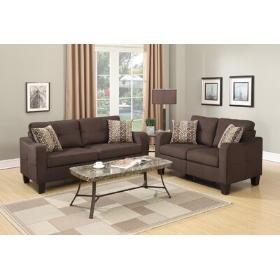 Dreer 2 Piece Living Room Set Upholstery: Chocolate