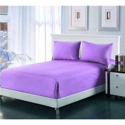 Madore Royal 800 Thread 100% Cotton Count Sheet Set Size: California King, Color: Light Purple