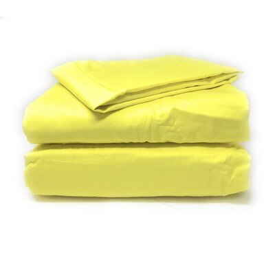 Madore Royal 800 Thread 100% Cotton Count Sheet Set Size: California King, Color: Neon Yellow
