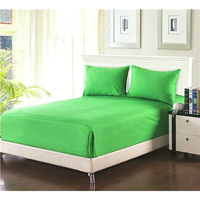 Madore Royal 800 Thread 100% Cotton Count Sheet Set Size: Twin, Color: Dark Green