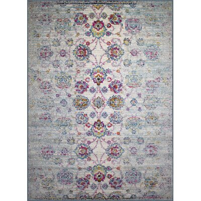 Pena Cream Area Rug Rug Size: Rectangle 110 x 211
