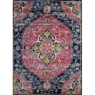 Pena Navy/Violet Area Rug Rug Size: Rectangle 5 x 71