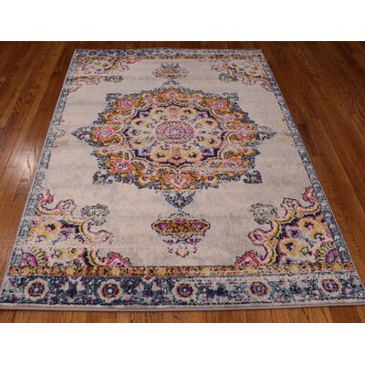 Pena Cream Area Rug Rug Size: Rectangle 5 x 71