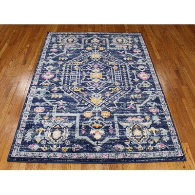 Pena Navy Area Rug Rug Size: Rectangle 9 x 122