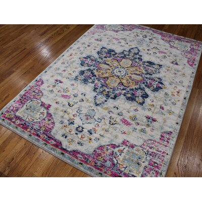 Pena Gray Area Rug Rug Size: Rectangle 74 x 106
