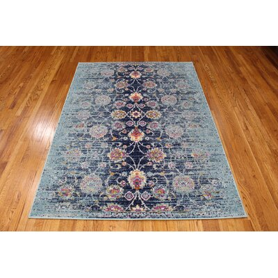 Pena Navy Area Rug Rug Size: Rectangle 5 x 71