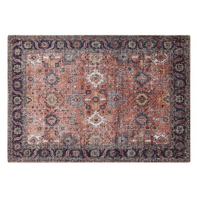 Axton Cotton Rust Area Rug