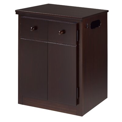 Erdman 2 Door Nightstand Color: Cappuccino
