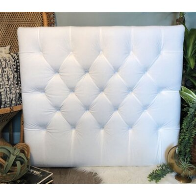 Honig Diamond Tufted Twin/Twin XL Upholstered�Panel Headboard Upholstery: White