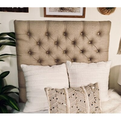 Plank Hill Linen Diamond Tufted Twin/Twin XL Upholstered Panel Headboard Upholstery: Latte