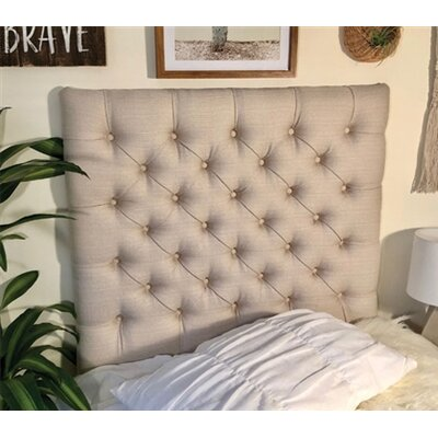 Plank Hill Linen Diamond Tufted Twin/Twin XL Upholstered Panel Headboard Upholstery: Natural