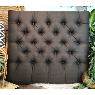 Plank Hill Linen Diamond Tufted Twin/Twin XL Upholstered Panel Headboard Upholstery: Graphite