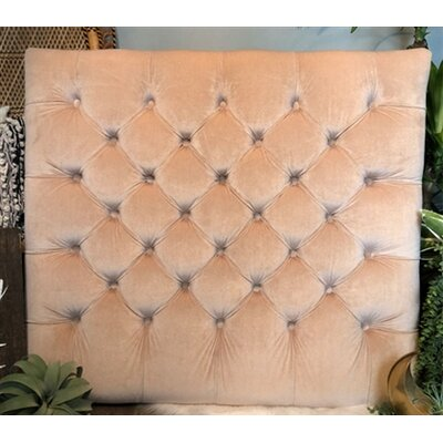 Honig Diamond Tufted Twin/Twin XL Upholstered�Panel Headboard Upholstery: Tan
