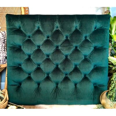 Honig Diamond Tufted Twin/Twin XL Upholstered�Panel Headboard Upholstery: Emerald