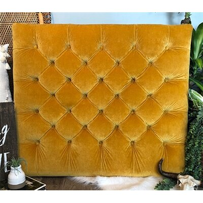 Honig Diamond Tufted Twin/Twin XL Upholstered�Panel Headboard Upholstery: Gold