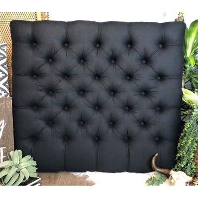 Plank Hill Linen Diamond Tufted Twin/Twin XL Upholstered Panel Headboard Upholstery: Black