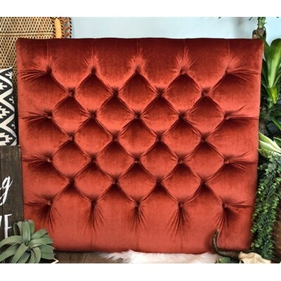 Honig Diamond Tufted Twin/Twin XL Upholstered�Panel Headboard Upholstery: Rust