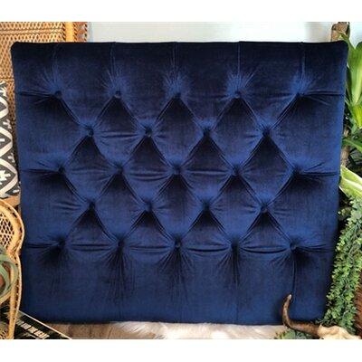 Honig Diamond Tufted Twin/Twin XL Upholstered�Panel Headboard Upholstery: Navy