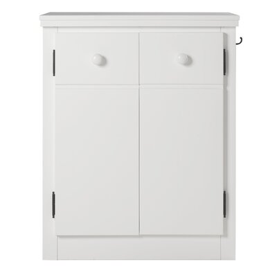 Erdman 2 Door Nightstand Color: White