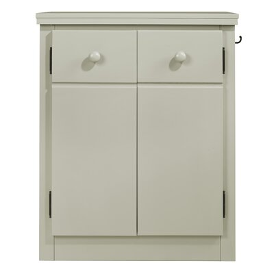 Erdman 2 Door Nightstand Color: Gray