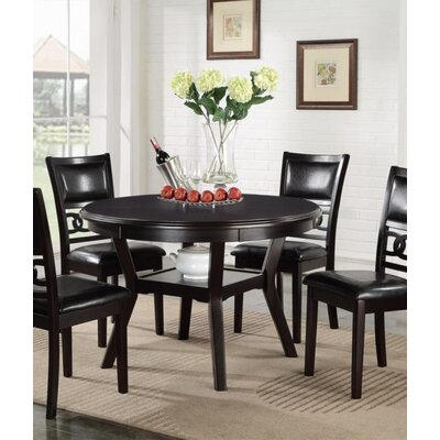 Jackins 5 Piece Dining Set Table Color: Ebony, Chair Color: Black