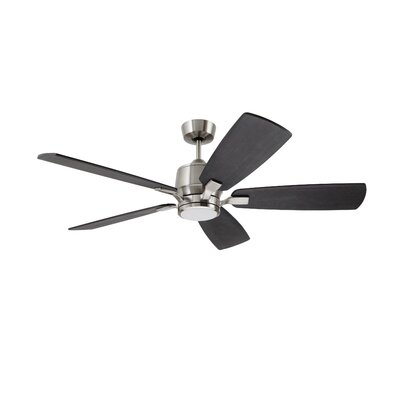 Strausbaugh 72 Strausbaugh 5 Blade LED Ceiling Fan Finish: Brushed Steel