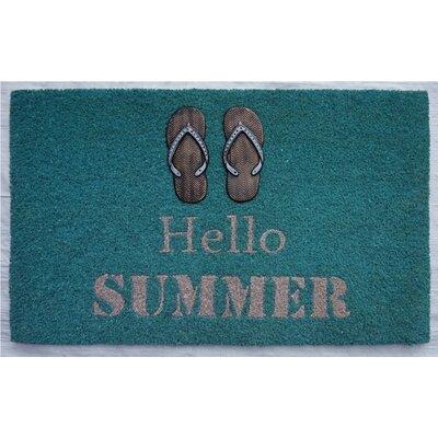 Gatewood Hello Summer Flip Flop Doormat