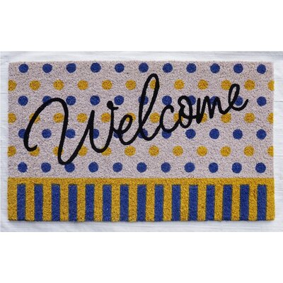 Bardin Welcome Polka Dot Doormat