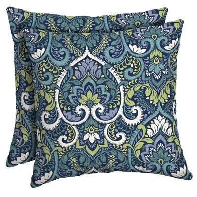 Partington Damask Outdoor Throw Pillow