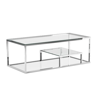 Cayla Coffee Table Color: Silver
