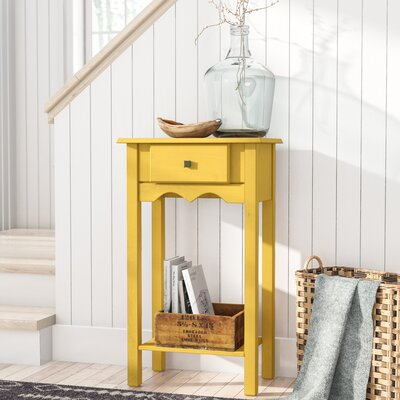 Pinard End Table Color: Yellow Wash