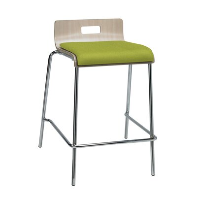 Aycock 25 Bar Stool Upholstery: Avocado Fabric, Color: Natural Back