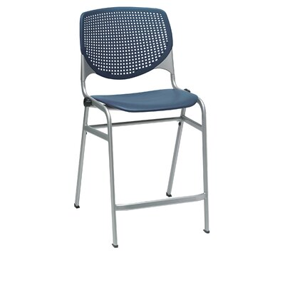 Lundell 25 Bar Stool Color: Navy