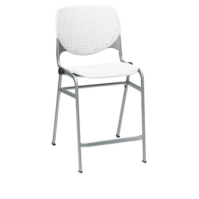 Lundell 25 Bar Stool Color: White