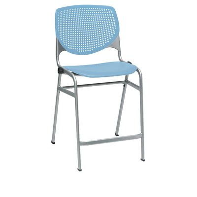 Lundell 25 Bar Stool Color: Sky Blue